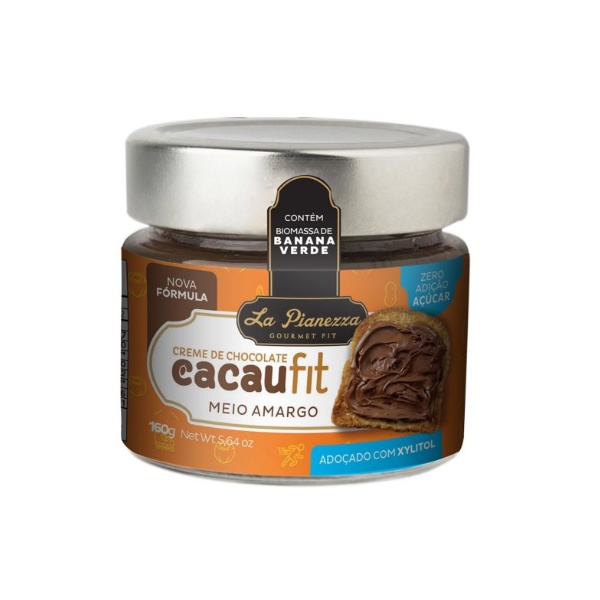 Creme de Chocolate CacauFit Meio Amargo 160g
