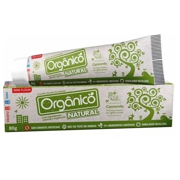 Creme Dental Orgânico Camomila Sem Flúor 80g