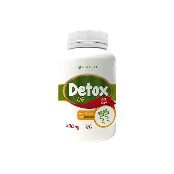 Detox Life Com Spirulina 60 cápsulasx500mg