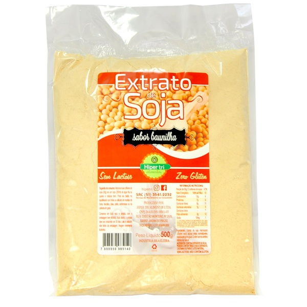 Extrato De Soja Baunilha 500g