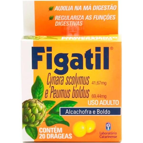 Figatil Alcachofra/ Boldo 20 drágeas