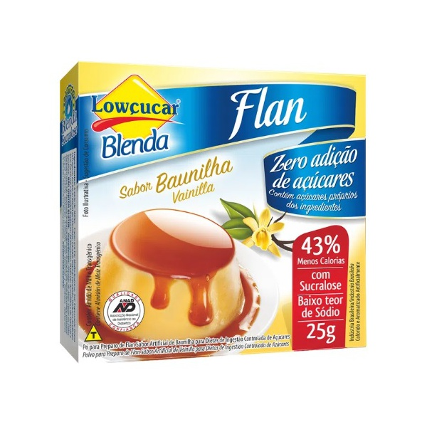 Flan Blenda Baunilha Zero Açúcar 25g