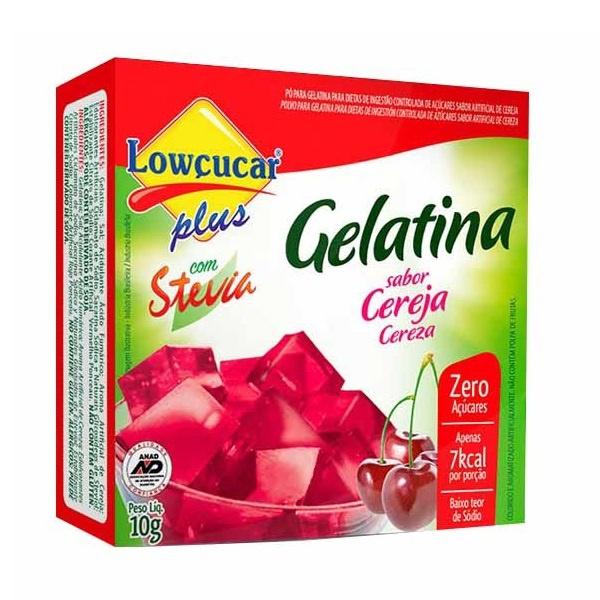 Gelatina Cereja Com Stevia 10g