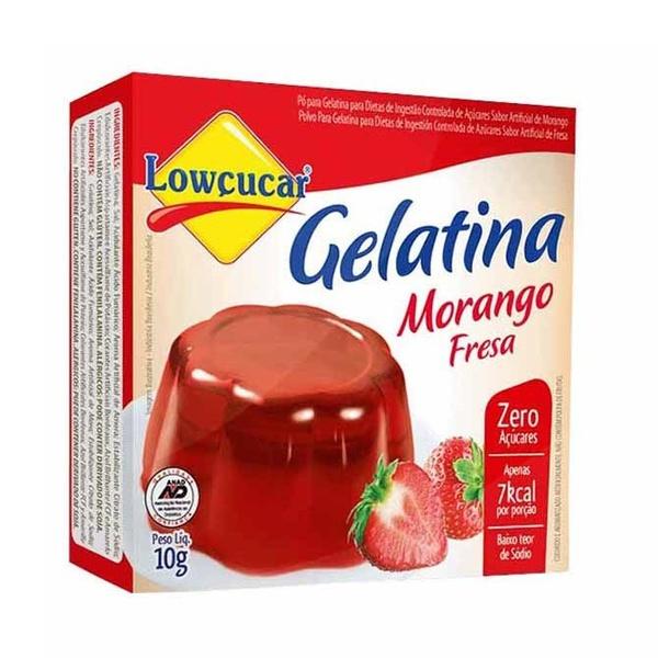 Gelatina Morango Zero Açúcar 10g