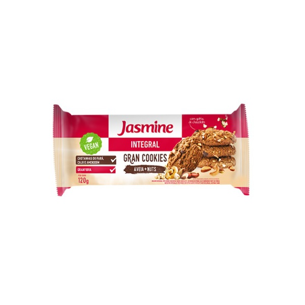 Gran Cookies Aveia e Nuts Integral Vegan 120g