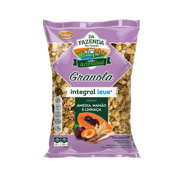 Granola Integral Leve com Ameixa, Mamão e Linhaça 230g