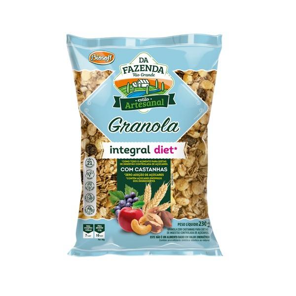 Granola Integral Diet Com Castanhas 230g