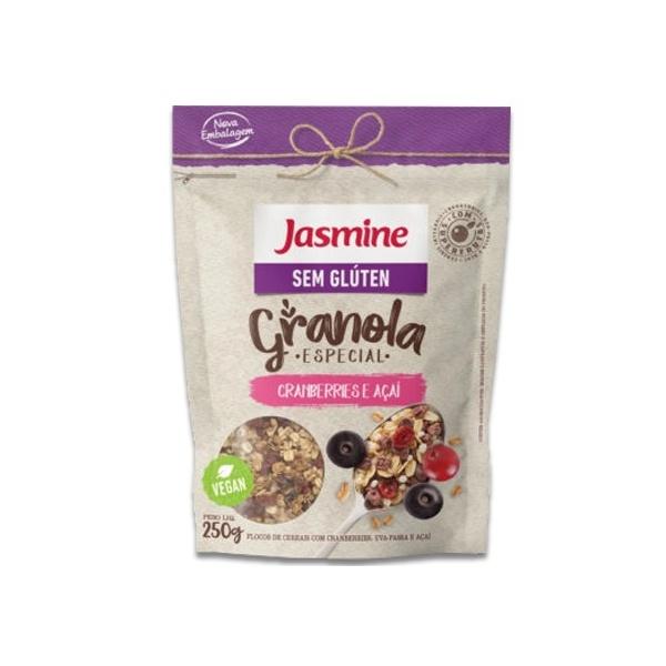 Granola Cranberries e Açaí Sem Glúten Vegan 250g