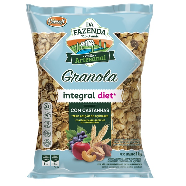 Granola Integral Diet Com Castanhas 1kg