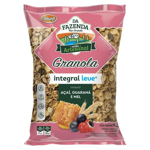 Granola Integral Leve Açaí, Guaraná e Mel 1kg