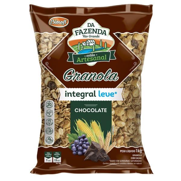 Granola Integral Leve Chocolate 1kg
