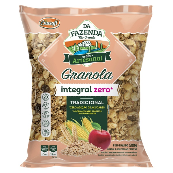 Granola Integral Tradicional Zero 500g