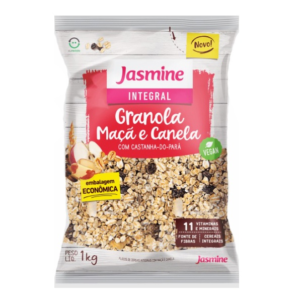 Granola Maçã e Canela Com Castanha-do-Pará 1kg
