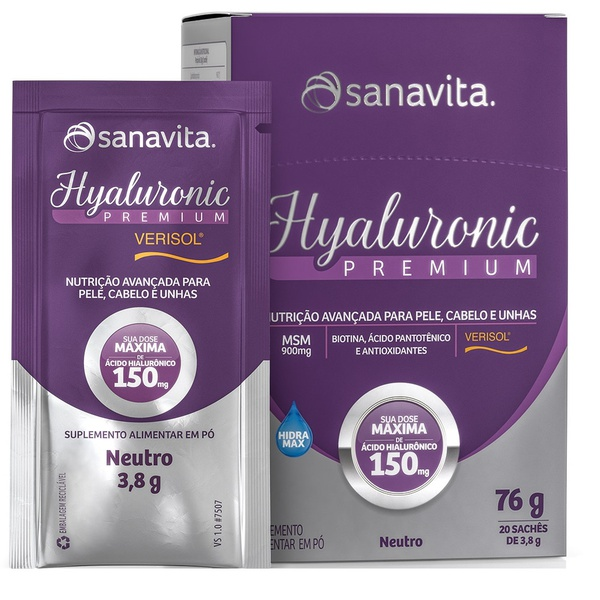 Hyaluronic Verisol Neutro Sachê 20x3,8g
