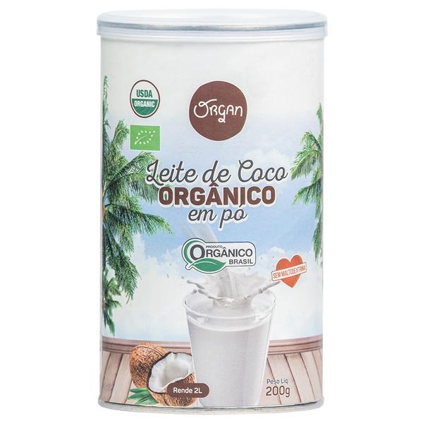 Leite de Coco Orgânico Em Pó Pote 200g