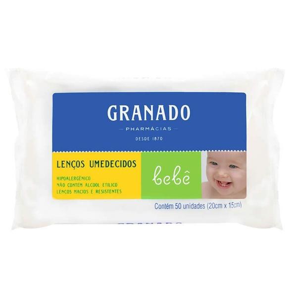 Lenços Umedecidos Bebê 50 unidades 20cmx15cm