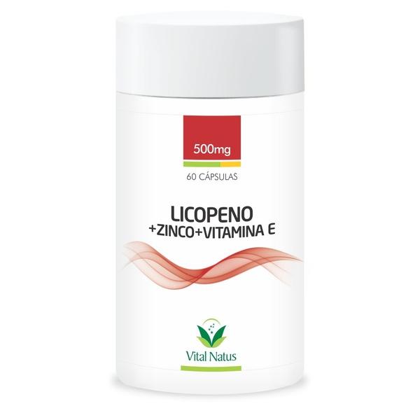 Licopeno + Zinco + Vitamina E 60caps x 500mg