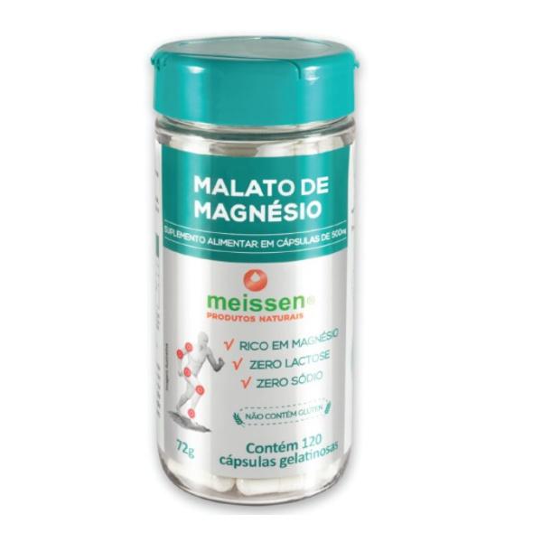 Malato de Magnésio 120 Cápsulas 72g