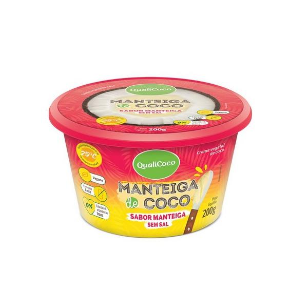 Manteiga de Coco Sabor Manteiga Sem Sal 200g