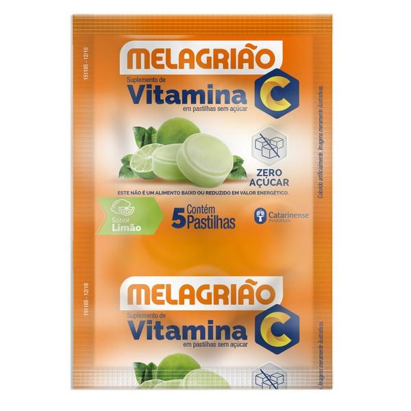 Melagrião Vitamina C Sabor Limão Zero 24 x 5 Pastilhas