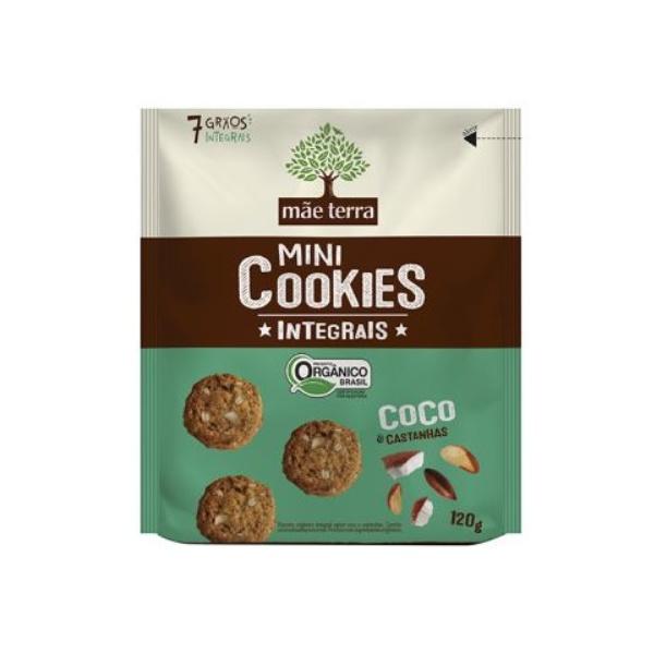 Mini Cookies Integrais Coco e Castanhas Orgânico 120g