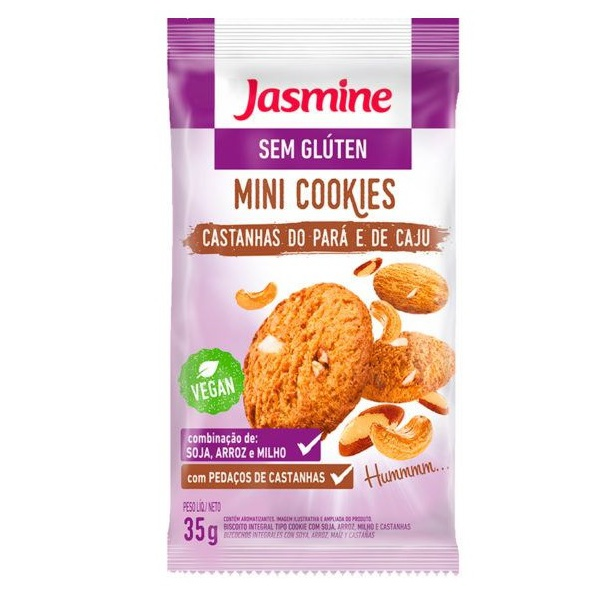Mini Cookies Castanha-do-Pará Sem Glúten Display 12x35g