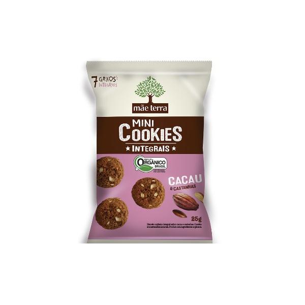 Mini Cookies Integrais Cacau e Castanhas display 7x25g