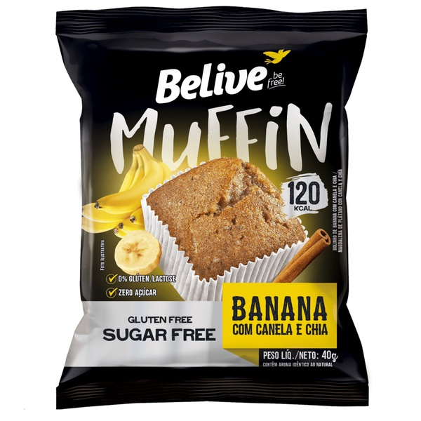 Muffin Banana, Canela, Chia Display 10 x 40g