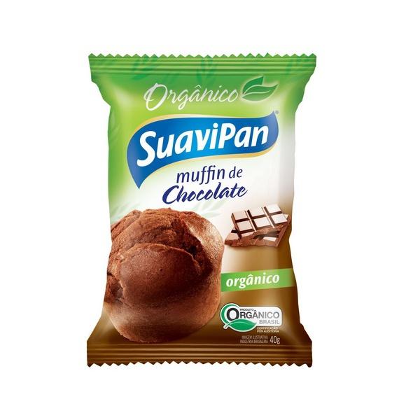 Muffin de Chocolate Orgânico Display 12 x 40g