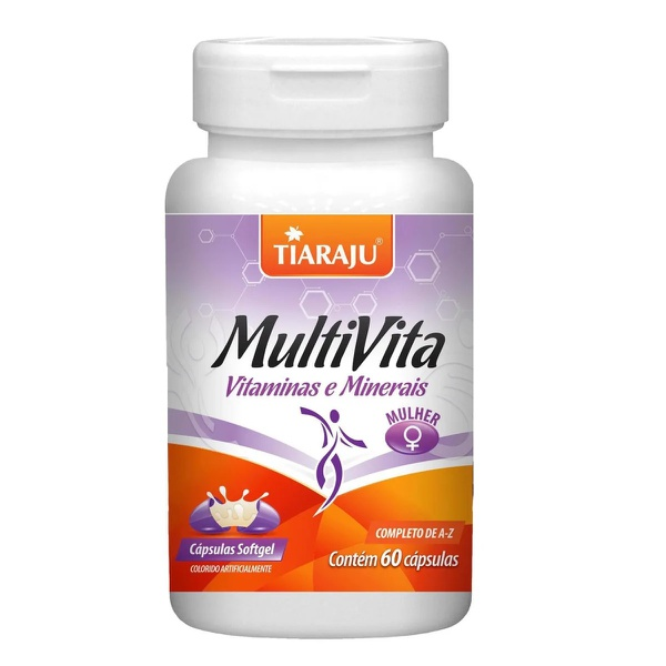 MultiVita Vitaminas e Minerais Mulher 60 caps x 1250mg