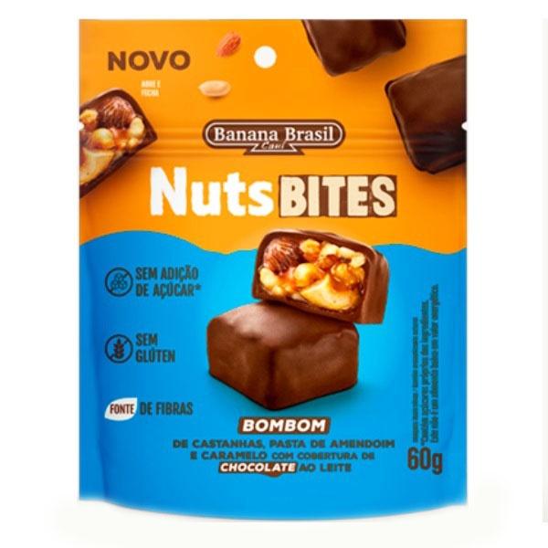Nuts Bites Bombom Cobertura Chocolate ao Leite 60g