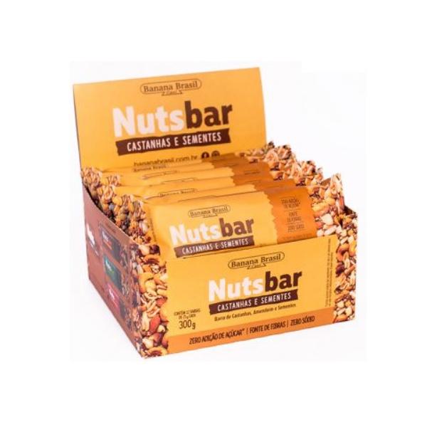 Nuts Bar Castanhas e Sementes Display 12 x 25g