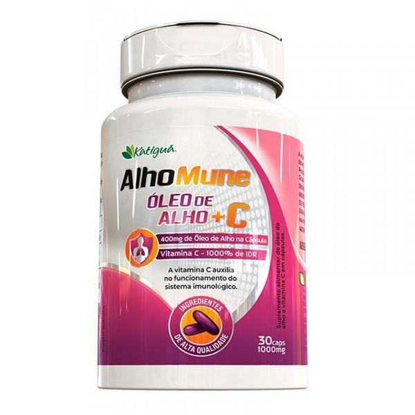 AlhoMune Óleo de Alho e Vitamina C 30x1000mg