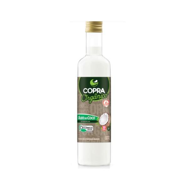 Óleo de Coco Extra Virgem Orgânico Garrafa 500ml