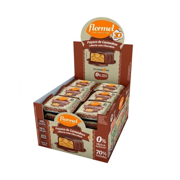 Paçoca Castanha com Chocolate Zero Disp. 24 x 22g