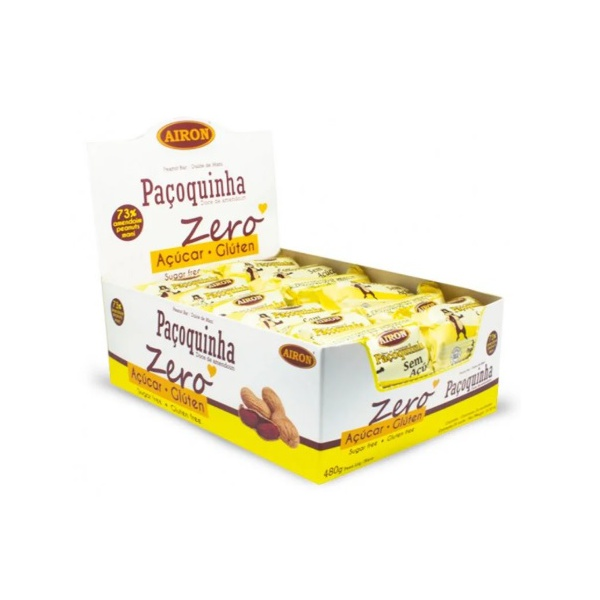 Paçoca Doce de Amendoim Zero Display 24 x 20g