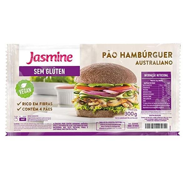 Pão de Hamburguer Australiano Sem Glúten Vegan 300g
