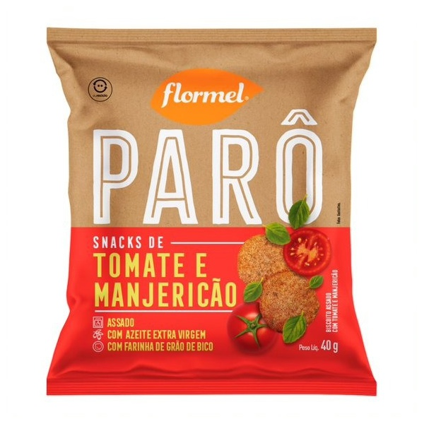 Parô Snack de Tomate e Manjericão 40g