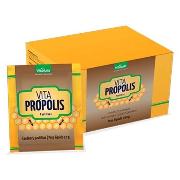 Pastilhas Vita Própolis Display 25 sachês x 5un