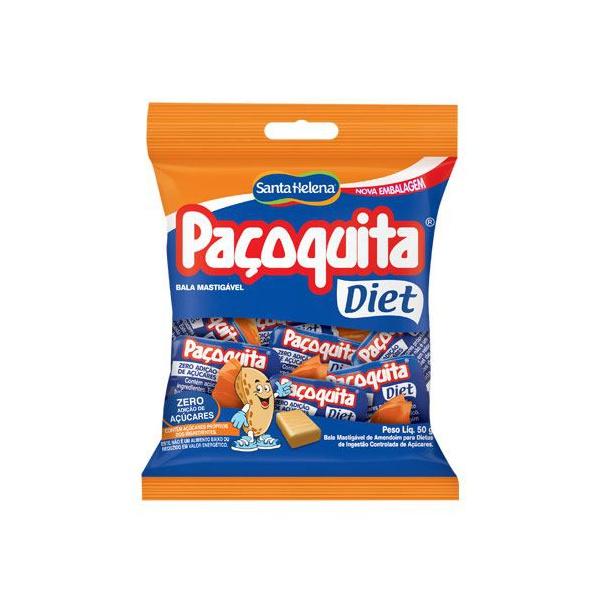 Bala Mastigável Paçoquita Diet Santa Helena 50g