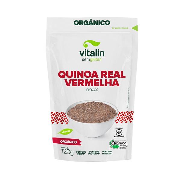 Quinoa Real Vermelha Flocos Orgânica 120g