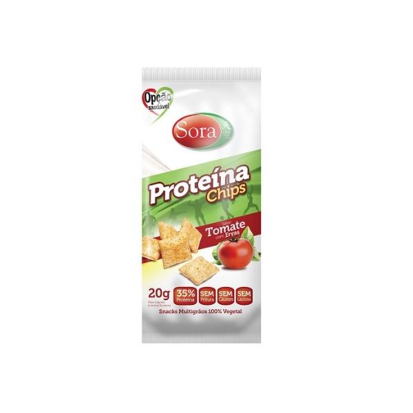 Proteína Chips Sabor Tomate com Ervas Display 10 x 20g
