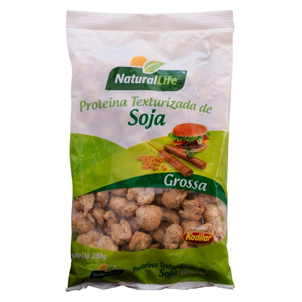 Proteína de Soja Grossa Texturizada 250g