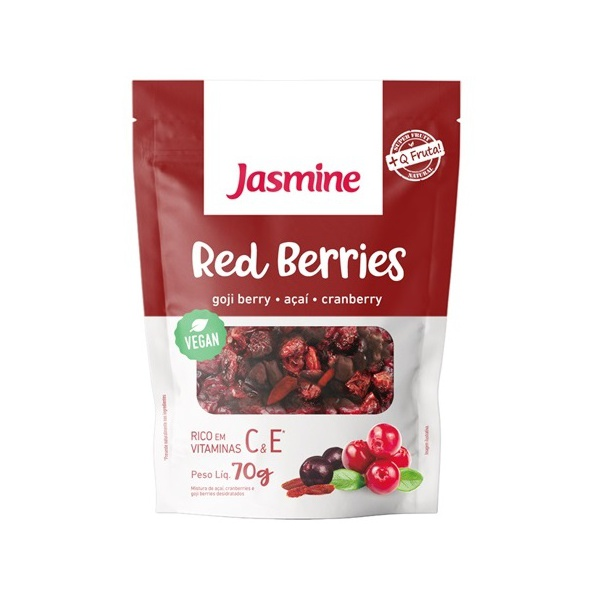 Red Berries Gojiberry, Açaí, Cranberry Vegan 70g