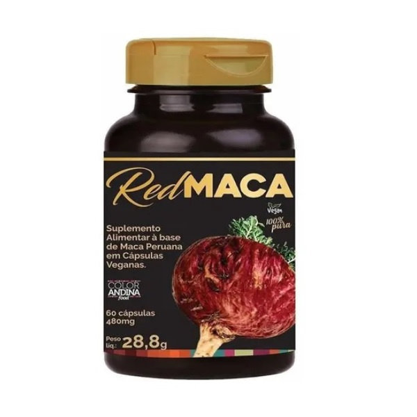Red Maca Vegan 60 x 480mg