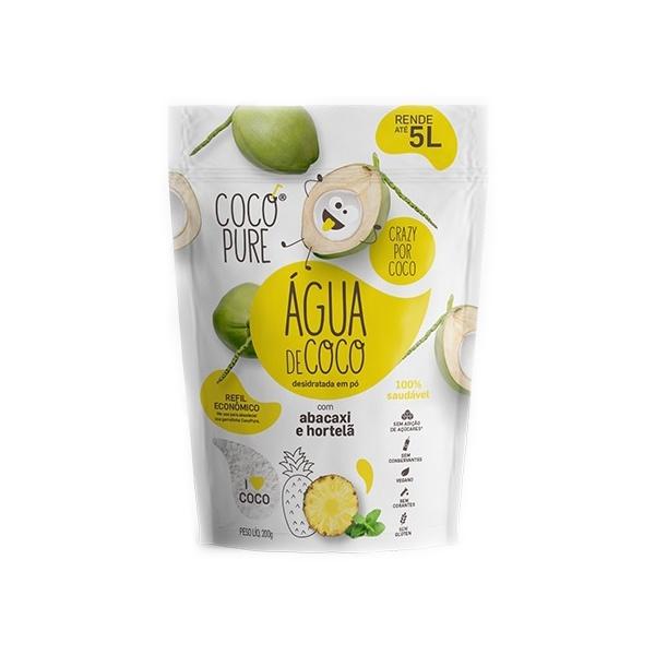 Água de Coco em Pó Refil Abacaxi/Hortelã 200g