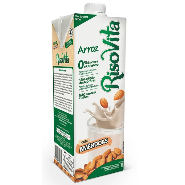 Bebida de Arroz e Amendoas 1 litro
