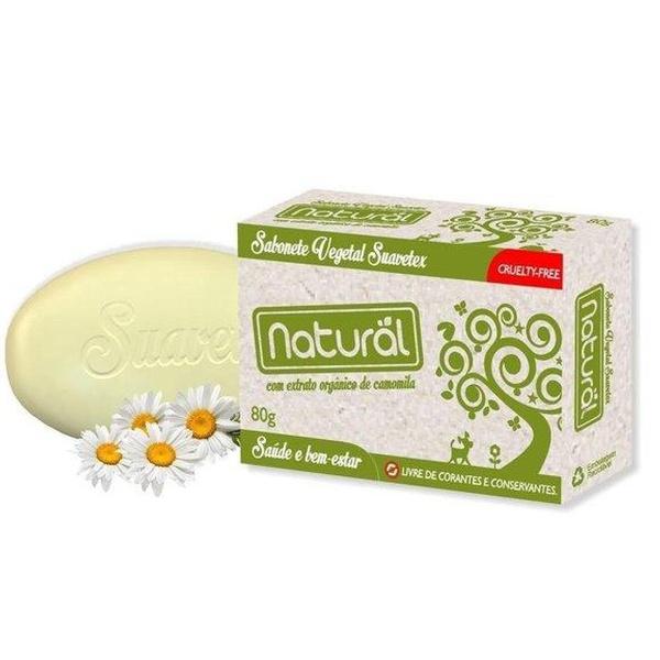 Sabonete Vegetal Natural com Extrato Orgânico de Camomila 80g