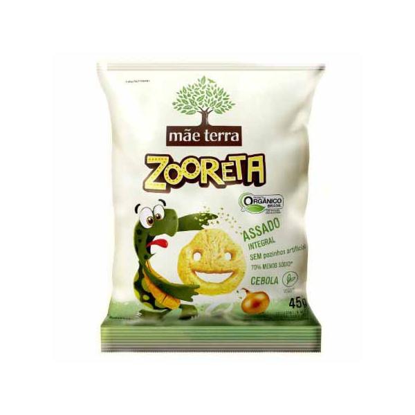 Salgadinho Zooreta Orgânico Integral Veg Sabor Cebola 45g