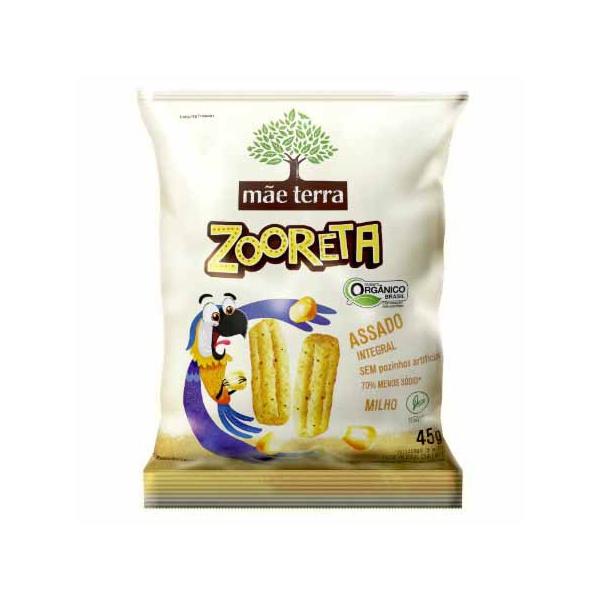 Salgadinho Zooreta Orgânico Integral Sabor Milho Verde 45g